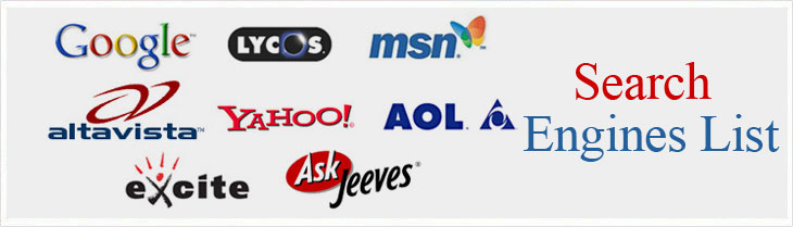 Search Engine List - Major Search Engine List - India search engines